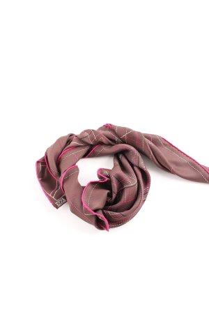 Hermès Fazzoletto da collo rosa-marrone Stampa a tema elegante