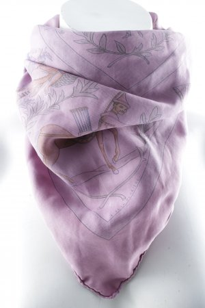 Hermès Halstuch violett Motivdruck Elegant