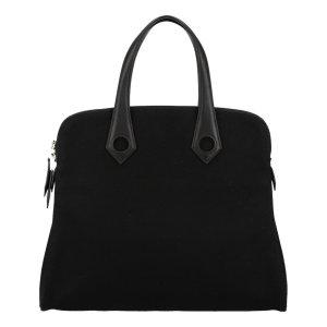 Hermès Heebo Henkeltasche, Handtasche, Tasche aus Textil und Leder in Schwarz
