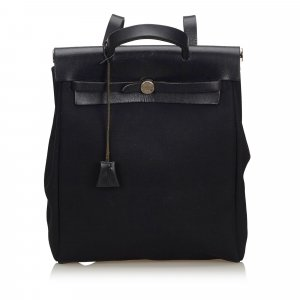 Hermès Sac à dos noir