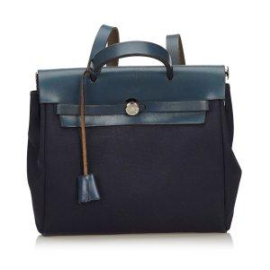 Hermès Sac à dos bleu