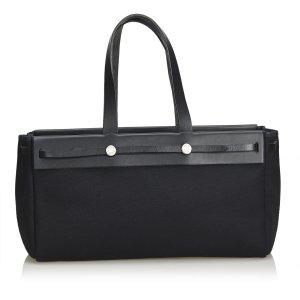 Hermès Bolsa de hombro negro Cuero