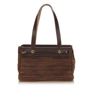 Hermès Bolso de compra marrón oscuro Cuero