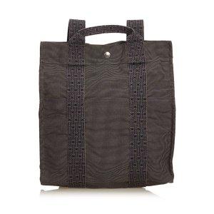 Hermès Mochila gris oscuro