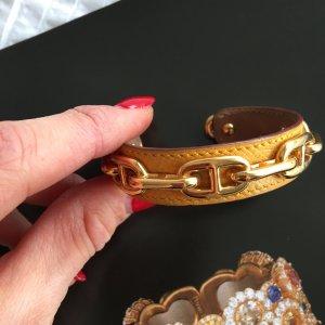 Hermès Hermes Bracelet Armband geld gold Leder - super selten
