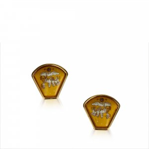 Hermès Oorbellen goud Metaal