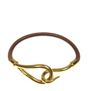 Hermès Jumbo Armband Armreif Leder Butterblume Natur Farbe Gold