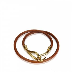 Hermès Pulsera marrón oscuro Cuero