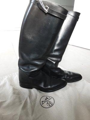 Hermès Botas de equitación negro Cuero