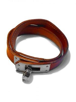 Hermès Armband donker oranje Leer