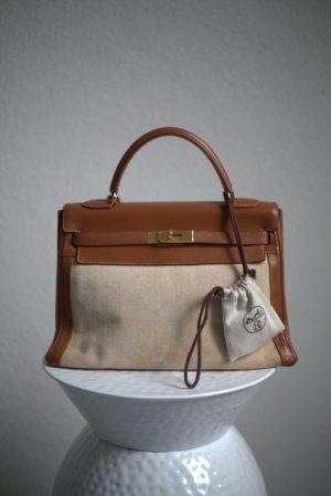 Hermès Bolso coñac-marrón grisáceo