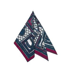 Hermès Sjaal blauw Katoen