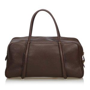 Hermes Leather Boston Bag