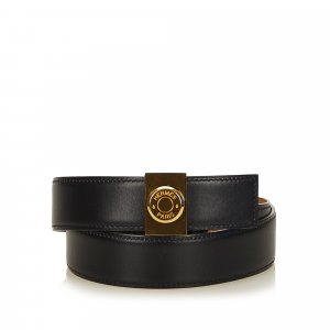 Hermes Leather Clou de Selle Belt