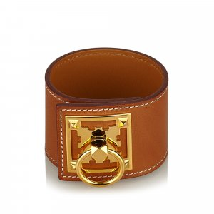Hermes Leather Creneau Cuff
