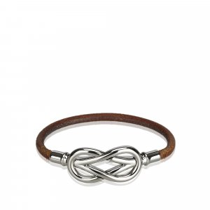 Hermes Leather Infinity Bracelet