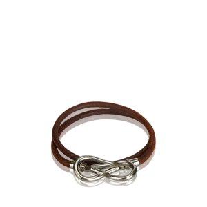 Hermès Pulsera marrón Cuero