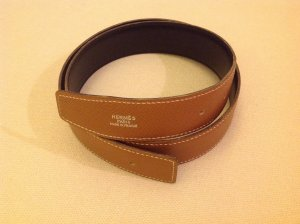 Hermès Belt light brown-black leather