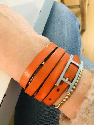Hermes Lederarmband orange