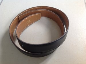 Hermès Belt black-beige leather
