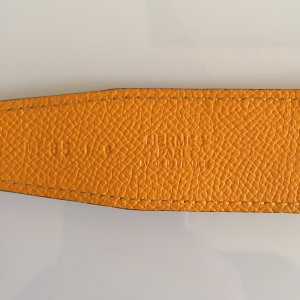 Hermès Reversible Belt gold orange-ocher leather