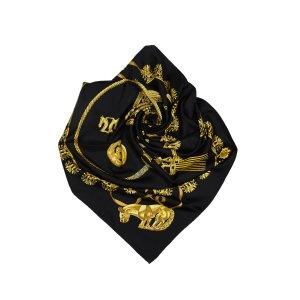 Hermes Les Cavaliers d Or Silk Scarf