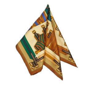 Hermes Les Sangles Silk Scarf