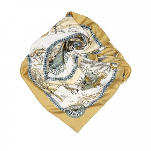 Hermes LHiver En Poste Silk Scarf