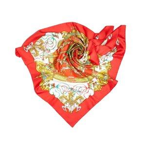 Hermès Sciarpa rosso Seta