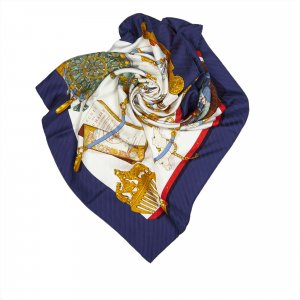 Hermès Écharpe blanc soie