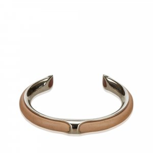 Hermes Metallic Leather Bangle