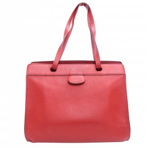 Hermès Bolso rojo Cuero