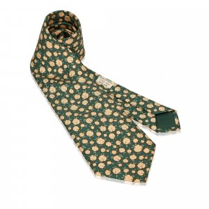 Hermès Foulard vert soie