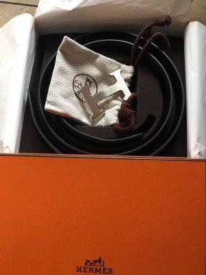 Hermes NEU Gürtel mit Silberschnalle