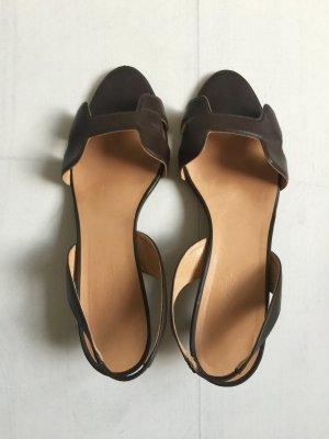 Hermès Ora Sandalen Größe 39,5 braun Leder