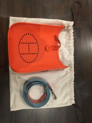 Hermes Orange Poppy Leather Evelyne TPM TBS 012 ZB