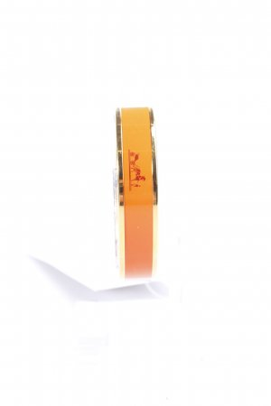 Hermes Paris Armreif orange-goldfarben Eleganz-Look