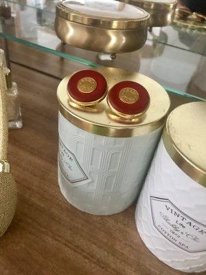 Hermès Oorclips rood-goud
