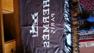 Hermes Paris Écharpe en cachemire chameau-gris brun cachemire