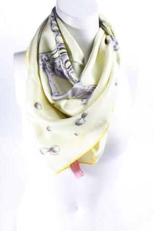 Hermes Paris Seidentuch blassgrün-hellgrau abstraktes Muster extravaganter Stil