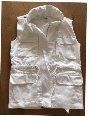 Hermès Paris Weste Martin Margiela weiß, 36- 1x getragen