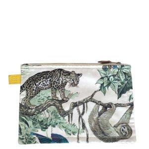Hermès Plat Jungle Motiv Baumwolle Clutch Kulturbeutel Tasche Handtasche