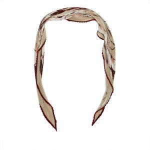 Hermes Pleated Floral Print Silk Scarf