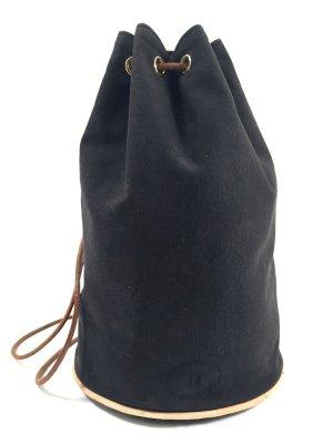 Hermès Porotion Mimil Seesack aus Canvas in den Farben Schwarz, Braun, Gold Tasche, Handtasche, Clutch
