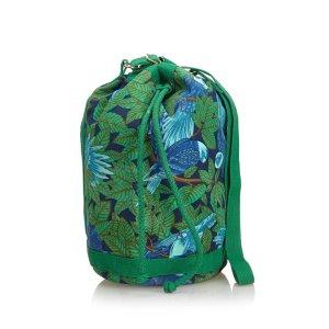 Hermes Printed Canvas Bucket Bag