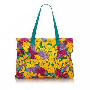 Hermes Printed Canvas Tote Bag