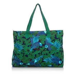 Hermes Printed Canvas Tote Bag