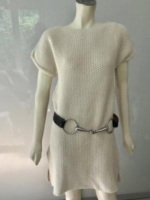Hermes Pullover Tunika Creme Weiß 36/38 Neu Alpaka Wolle Tunic Sweater White S