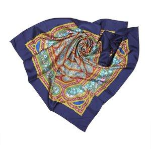 Hermès Écharpe violet soie
