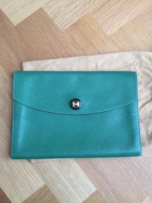 Hermès Pochette vert forêt cuir